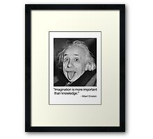 Imagination is more important than knowledge. Framed Print