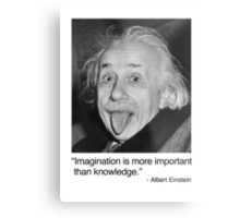 Imagination is more important than knowledge. Metal Print