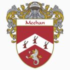 Meehan Coat of Arms/Family Crest by William Martin