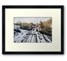 No Trains Today !!! Framed Print