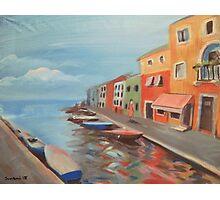 Burano Canal Photographic Print
