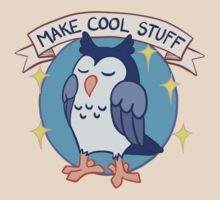 Make Cool Stuff owl emblem T-Shirt