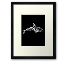 Free The Whales Framed Print
