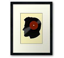 Vinyl Records Lover - The DJ - Vinylized Man T Shirt Framed Print