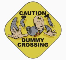 Crash Test Dummies - Caution Dummy Crossing - Gray Dummy Kids Clothes