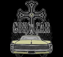 God's car for Ipad cases by Patricia Van Lubeck