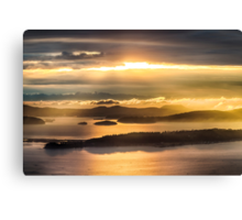 Sunset from Blanchard Mountain  Canvas Print
