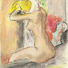 Postcards from Europe - a study of Degas 'after the bath by Gary Shaw