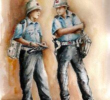 Attentive traffic patrol by Ivana Pinaffo