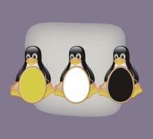 LINUX TUX PENGUIN  3 COLOR EGGS Kids Clothes