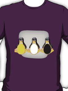 LINUX TUX PENGUIN  3 COLOR EGGS T-Shirt