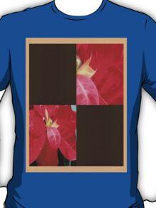 Mottled Red Poinsettia 2 Blank Q3F0 T-Shirt