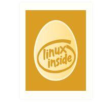 LINUX INSIDE Art Print