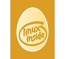 LINUX INSIDE Photographic Print