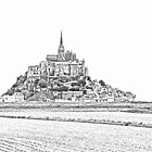Mont St Michel  - B&W High Key by Buckwhite