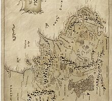 Middle earth map - The Hobbit by kiddchino