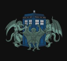 The Gargoyles have the phone box by BADSketching Illustration