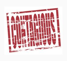 Contagious red rubber stamp effect by stuwdamdorp