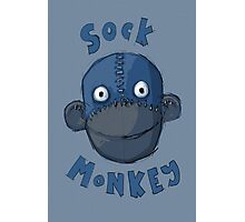 Crafty Sock Monkey Always Happy to See You ! Photographic Print