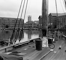 Gloucester cathedral and docks by Jonathan Gazeley