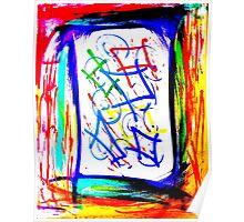 Magic Scroll Unique Abstract Art Poster
