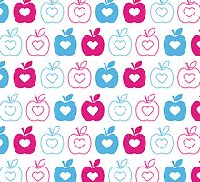 Valentine Heart Apple Pattern by MurphyCreative