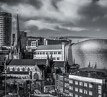 Birmingham Cityscape Skyline, UK in Monochrome by Verity Milligan