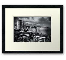 Birmingham Cityscape Skyline, UK in Monochrome Framed Print