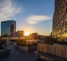 Sunset over the Discovery Terrace at The Library of Birmingham by Verity Milligan