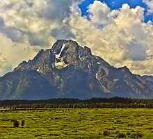 Mt. Moran from Jackson Lake Lodge by Brenton Cooper