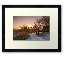 Frosty Sunrise over the Lickey Hills Framed Print