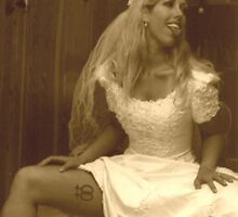 Lesbian in wedding dress 02 by Glamourouslesbo