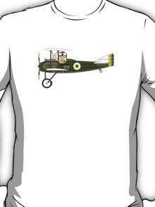 Cute RAF Pilot in Bi-Plane T-Shirt