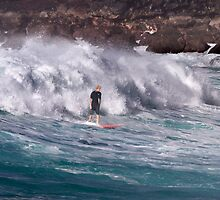 John John Florence at Waimea Bay 2013 by Alex Preiss
