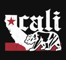 Vintage California Bear Flag (distressed) by robotface