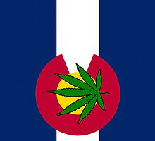 Smartphone Case - State Flag of Colorado - Cannabis Leaf 5 by Mark Podger