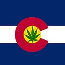 Smartphone Case - State Flag of Colorado - Cannabis Leaf 8 by Mark Podger
