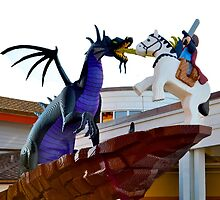 Lego Maleficent @ Downtown Disney by lmcarlos