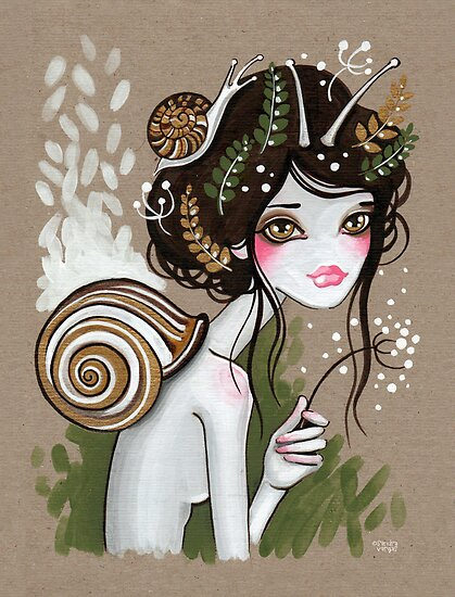 Snail Girl by sandygrafik