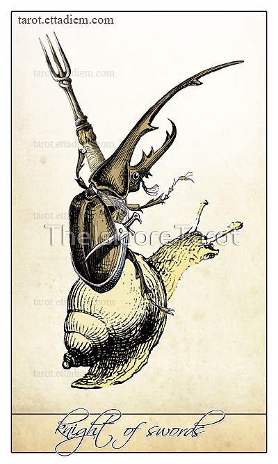 The Swords Suit - Knight of Swords by TheIsidoreTarot