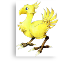 Chocobo Final Fantasy Canvas Print