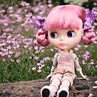 Summer Blythe in the garden - landscape version by Zoe Power