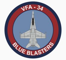 VFA - 34 Fighter Squadron Blue Blasters by VeteranGraphics