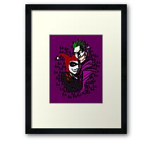 Joker and Harley Framed Print