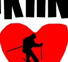 Skiing Mom Sticker