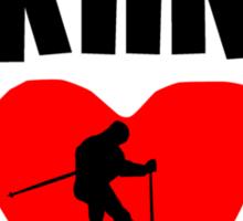 Skiing Dad Sticker