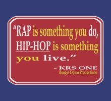 """HIP-HOP QUOTES: RAP vs. HIP-HOP (KRS-1)"" by SOL  SKETCHES™"