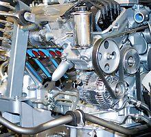 Cutaway car engine by Martyn Franklin
