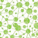 grunge molecular structure pattern by oksancia