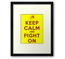 Keep Calm and Fight On (Gold iPhone Case) Framed Print